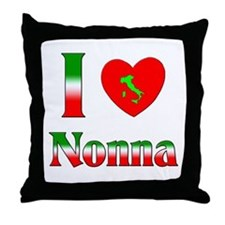 I Love Nonna Throw Pillow