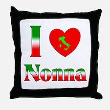 I Love Nonna Throw Pillow