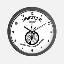 Unicycle Mobile Device Wall Clock