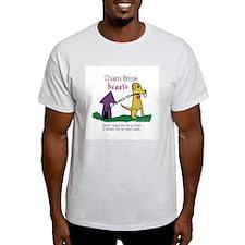Chains Break Hearts Ash Grey T-Shirt