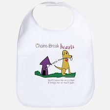 Chains Break Hearts Bib