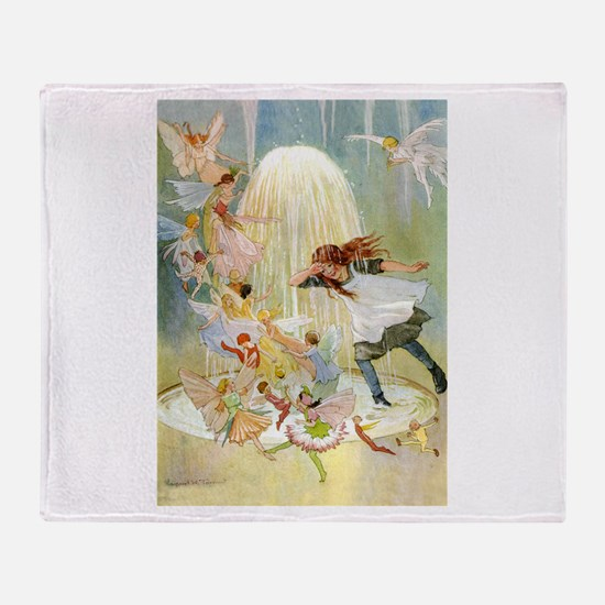 THE FAIRY FOUNTAIN Throw Blanket