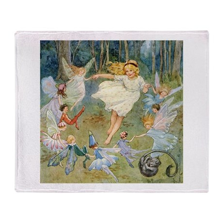 dancing in the fairy Throw Blanket