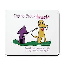 Chains Break Hearts Mousepad