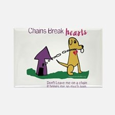 Chains Break Hearts Rectangle Magnet