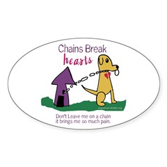 Chains Break Hearts Oval Decal