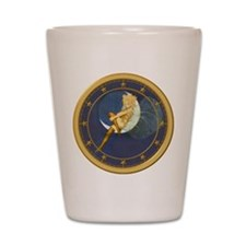 THE LADY IN THE MOON Shot Glass