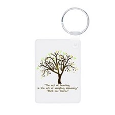 The Art Of Teaching Aluminum Photo Keychain