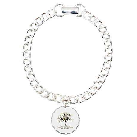 The Art Of Teaching Charm Bracelet, One Charm