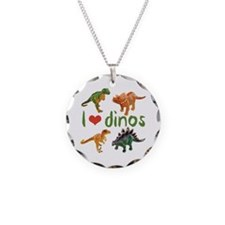 I Love Dinos Necklace