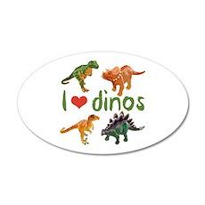 I Love Dinos Wall Decal