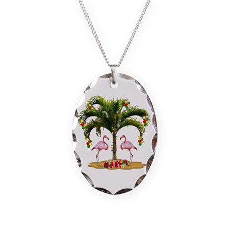 Tropical Holiday Necklace Oval Charm