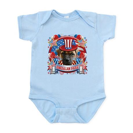 American Pride Bull Mastiff Infant Bodysuit