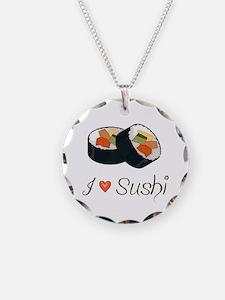 Sushi Necklace Circle Charm