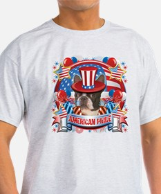 American Pride Boston Terrier T-Shirt