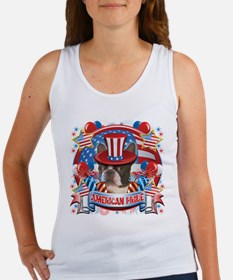 American Pride Boston Terrier Women's Tank Top
