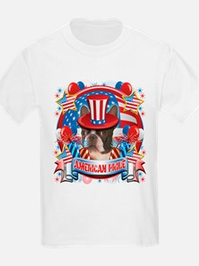 American Pride Boston Terrier T-Shirt