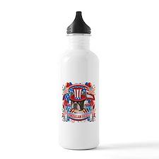 American Pride Boston Terrier Water Bottle