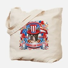 American Pride Boston Terrier Tote Bag