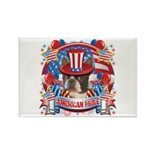 American Pride Boston Terrier Rectangle Magnet