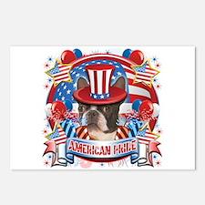 American Pride Boston Terrier Postcards (Package o