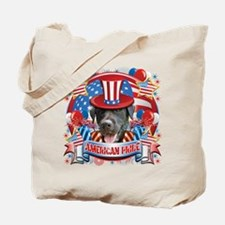 American Pride Black Lab Tote Bag