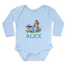 ALICE IN WONDERLAND - Long Sleeve Infant Bodysuit