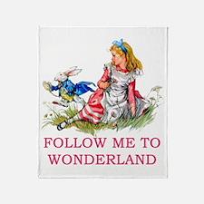ALICE - Follow Me To Wonderland Throw Blanket