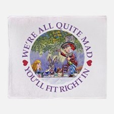 MAD HATTER'S TEA PARTY Throw Blanket