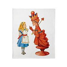 ALICE & THE RED QUEEN Throw Blanket