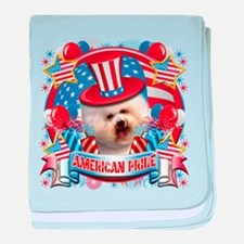 American Pride Bichon Frise baby blanket