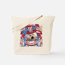 American Pride Bichon Frise Tote Bag