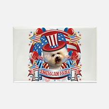 American Pride Bichon Frise Rectangle Magnet