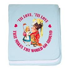 LOVE MAKES THE WORLD GO AROUN baby blanket