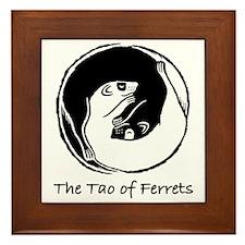 Tao of Ferrets Framed Tile