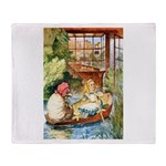 ALICE & THE OLD SHEEP Throw Blanket