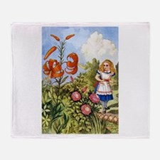 ALICE & THE TALKING FLOWERS Throw Blanket