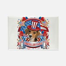 American Pride Beagle Rectangle Magnet