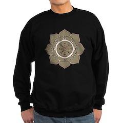 Dharma Wheel with Lotus Flowe Sweatshirt