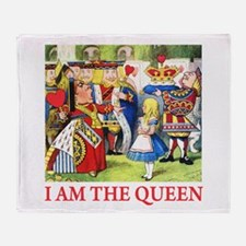 I AM THE QUEEN Throw Blanket