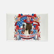 American Pride Bassett Hound Rectangle Magnet
