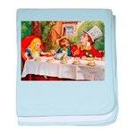 MAD HATTER'S TEA PARTY baby blanket