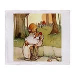 ALICE & THE PIG BABY Throw Blanket