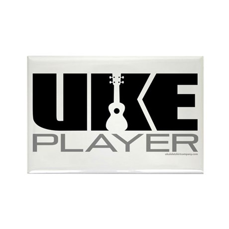 Uke Player Rectangle Magnet
