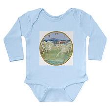 NEPTUNE'S HORSES CLOCK Long Sleeve Infant Bodysuit