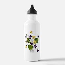 VIOLET BOUQUET FAUX EMBROIDER Water Bottle