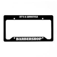Barbershop License Plate Holder Frame
