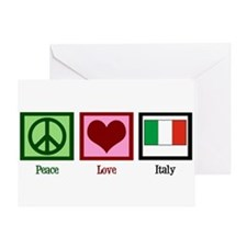 Peace Love Italy Greeting Card