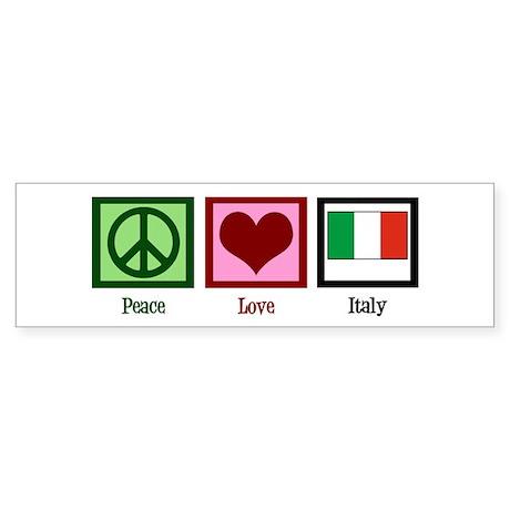 Peace Love Italy Sticker (Bumper)