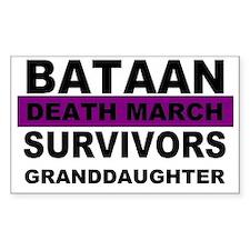 Bataan Death March Survivors Granddaughter Decal